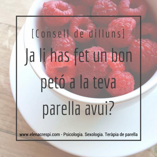 Consell de dilluns - Petó - eLena Crespi