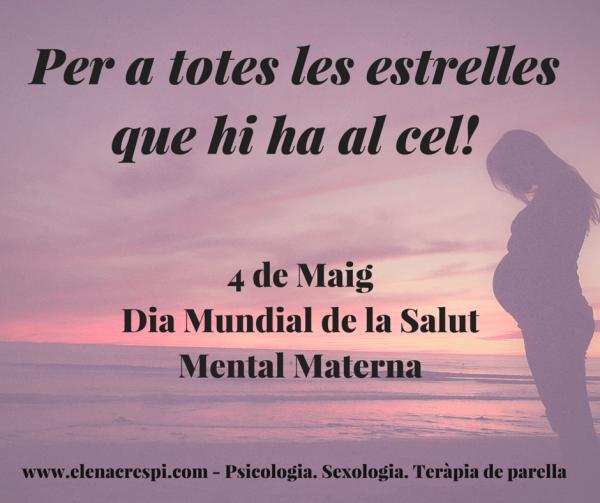 Missatge eLena - Dia Salut Mental Maternal